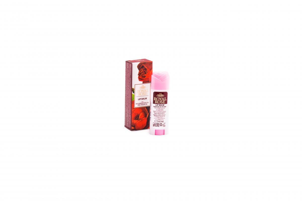 Lip balm lipstick ROYAL ROSE with rose oil and argan oil 5ml
