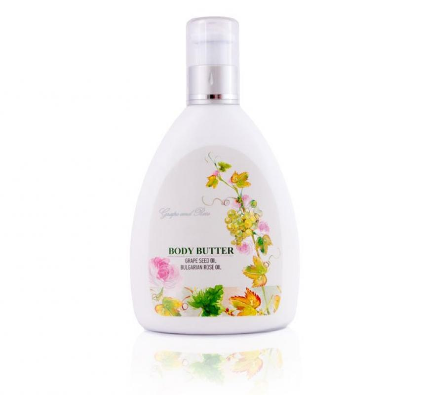 Body Butter Grape and Rose Oil 300ml