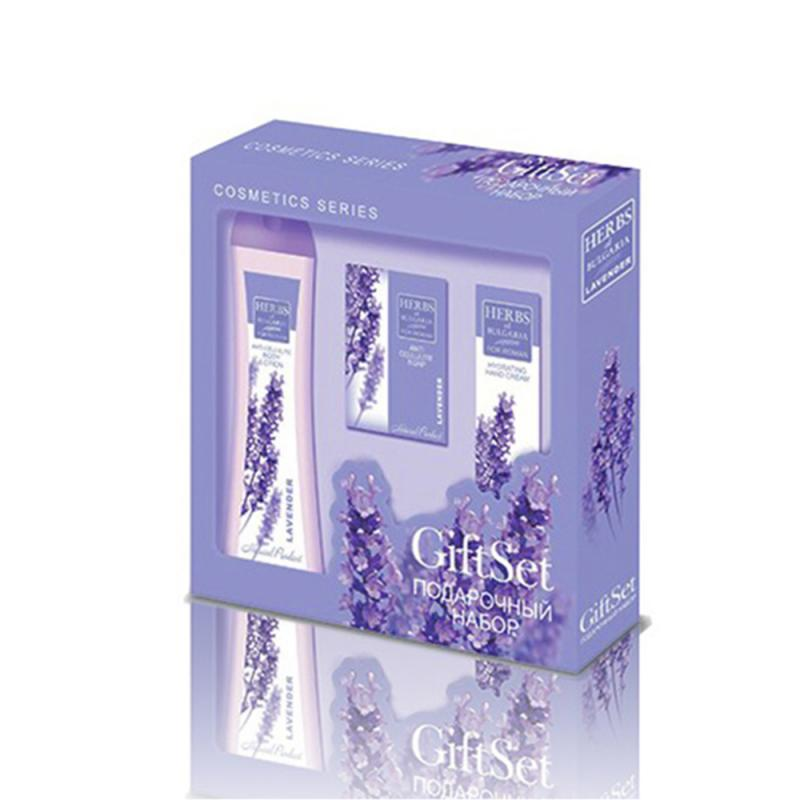 Gift set for woman LAVENDER Body lotion Hand cream Face cream
