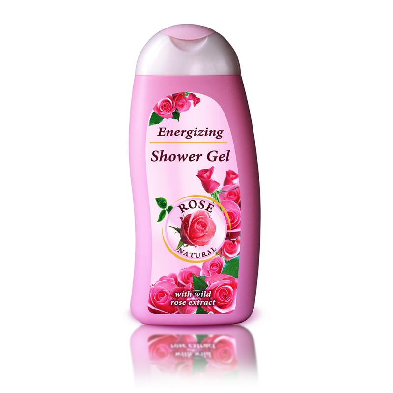 Energizing shower gel ROSE NATURAL 250ml